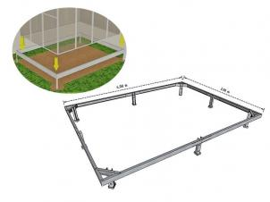 Steel (galvanized) Foundation 3x4 m