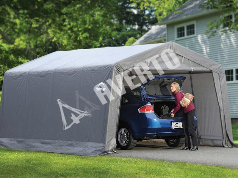 Folding Shelterlogic Garage 3 0x6 1 M Averto