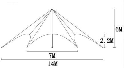Gartenlaube / Vorzelte 14 m Ø